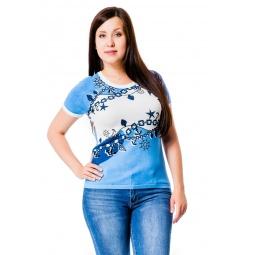фото Кофта Mondigo 20035. Цвет: джинсовый. Размер одежды: 52