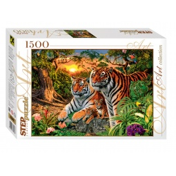 фото Пазл 1500 элементов Step Puzzle Сколько тигров?