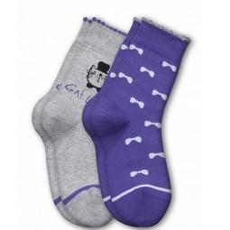 фото Комплект детских носков Teller Mr.Cat. Цвет: фиолетовый, серый. Размер: 27-32