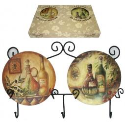Купить Набор из 2-х тарелок Elan Gallery «Оливковое масло»