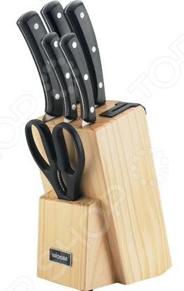 Набор ножей Nadoba Helga набор из 5 кухонных ножей с универсальным керамическим блоком nadoba blanca 723418