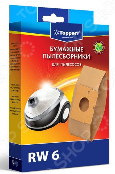 Фильтр для пылесоса Topperr RW 6Аксессуары для пылесосов<br>Фильтр для пылесоса Topperr RW 6 это практичный моющийся фильтр для длительного использования в вашем пылесосе. Его использование позволит предотвратить попадание в двигатель тяжелых частиц пыли. Фильтр обладает высочайшей степенью фильтрации и задерживает 99,5 пыли. Благодаря свойствам фильтрующего материала вы избавитесь от аллергенной пыльцы, микроорганизмов, бактерий и пылевых клещей. Если вы заботитесь о чистоте в доме, то вам следует использовать подобные фильтры, ведь только они позволят обеспечить чистых воздух в вашей квартире. В комплекте 5 фильтров для моделей пылесосов ROWENTA: Spacio: RS-600...699.<br>
