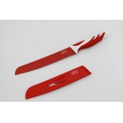 фото Нож для хлеба в пластиковом чехле Gipfel Rainbow. Цвет рукояти: красный