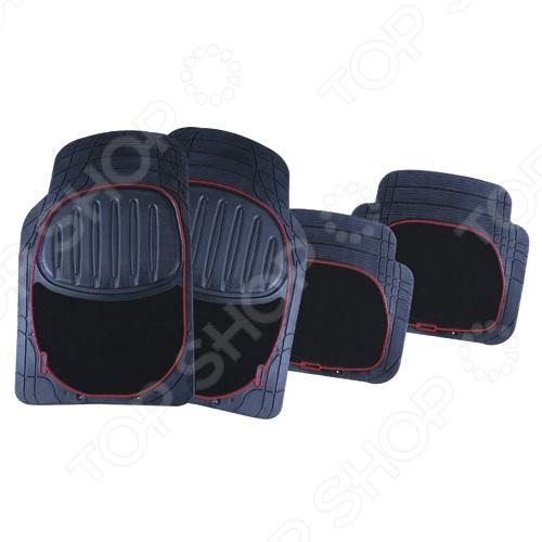 Набор ковриков Автостоп AB-2008 прекрасно защитит салон вашего автомобиля от случайно вылитых жидкостей и загрязнений в любое время года. Они изготовлены из мягкого, легкого и эластичного материала и не имеют запаха. Кроме того, качественные оригинальные коврики обеспечат комфорт ногам водителя и пассажиров. В набор входят 4 резиновых коврика размером 71,5х45,5 см и 47х42,5 см.