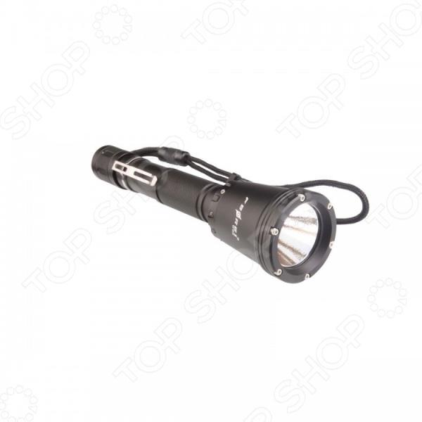 Фонарь для дайвинга Ferei W158BФонари для дайвинга<br>Фонарь для дайвинга Ferei W158B отличное решение для подводной охоты и дайвинга. Яркий фонарик имеет прочный металлический корпус, выполненный из авиационного алюминия, который надежно защищает устройство от попадания воды внутрь корпуса на глубине до 150 м. Он также обеспечивает защиту от случайных механических повреждений. Сочетание передовых современных технологий и комплектующих высокого качества обеспечивает долговечность и надежность устройства. Особенности фонаря для дайвинга Ferei W158B:  Работает на основе светодиода Cree XM-L2, который обеспечивает белый теплый свет;  Световой поток составляет 860 лм;  Дальность светового луча достигает 300 м;  Специальный алюминиевый отражатель обеспечивает максимально эффективный свет;  Три режима яркости Max, Mid, Low ;  Дополнительный режим стробоскопа;  Поворотный механизм обеспечивает комфортное управление устройством на глубине. Фонарь для дайвинга Ferei W158 обеспечит комфортный и безопасный процесс погружения на глубину до 150 метров! Длина фонаря составляет 210 мм, диаметр ручки - 27,5 мм, а его головной части - 50 мм.<br>