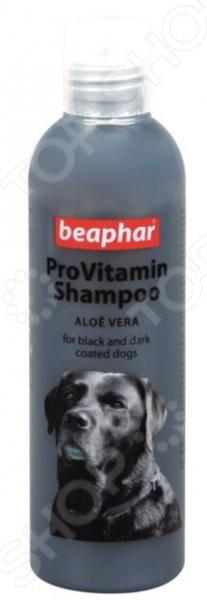 Шампунь для собак черных окрасов Beaphar Pro Vitamin 18255Шампуни и кондиционеры для собак<br>Шампунь для собак черных окрасов Beaphar Pro Vitamin 18255 предназначен для купания собак с черным и темным окрасом шерсти. Он изготовлен по инновационной технологии, прекрасно очищает шерсть от различных загрязнений и придает ей блеск и шелковистость. Кроме того, шампунь активизирует выработку натурального пигмента, благодаря чему цвет шерсти становится еще более ярким и насыщенным. Входящий в состав средства, экстракт алое вера оказывает на кожу интенсивное увлажняющее и смягчающее действие. Меры предосторожности: следует избегать попадания шампуня в глаза и уши животного, использовать только по назначению.<br>