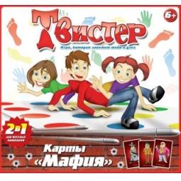 фото Напольная игра Татой «Твистер+карты Мафия»