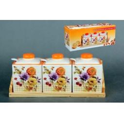 Купить Набор банок для сыпучих продуктов Коралл «Элегия»