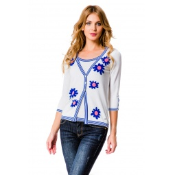 фото Кофта Mondigo 10041. Цвет: белый. Размер одежды: 46