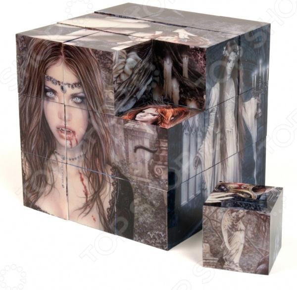 Пазл магнитный Educa «Готика»Магнитные пазлы<br>Пазл Educa Готика это прекрасный подарок как для ребенка, так и для взрослого! Набор включает в себя 27 пластиковых кубиков, из которых можно собрать 18 великолепных репродукций картин испанской художницы Виктории Франсез. Внутри каждого кубика находятся 5 независимых магнитов, за счет чего вся конструкция прекрасно держится и не распадается. Изображения нанесены на внутреннюю сторону, поэтому они не выцветают и не стираются со временем. Головоломка развивает усидчивость, наблюдательность, образное восприятие и логическое мышление. Постоянно манипулируя деталями, улучшается мелкая моторику рук и координация движений. В комплект входит специальная подставка.<br>