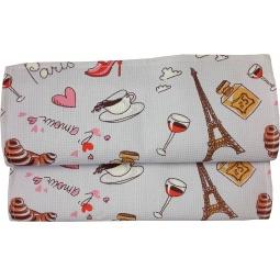 Купить Полотенце вафельное BONITA «Париж»