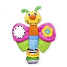 Купить Игрушка-погремушка мягкая Жирафики «Мотылек» на присоске