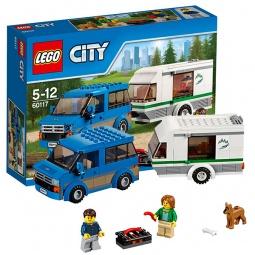 фото Конструктор игровой LEGO «Фургон и дом на колесах»