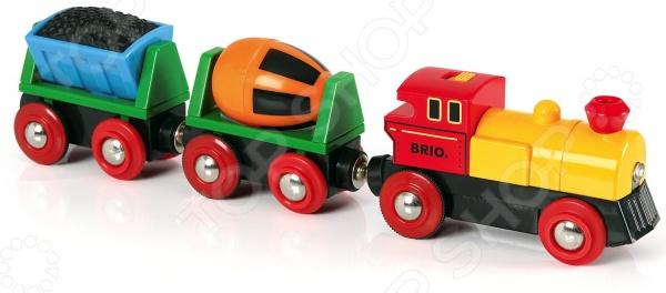 Поезд игрушечный Brio с бетономешалкой 33319