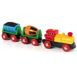 фото Поезд игрушечный Brio с бетономешалкой 33319