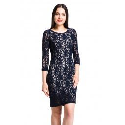 фото Платье Mondigo 7031. Цвет: темно-синий