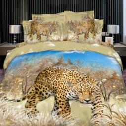 фото Комплект постельного белья с эффектом 3D Buenas Noches Jaguar. Евро