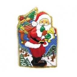 фото Панно новогоднее Снегурочка «Дед Мороз с мишурой»
