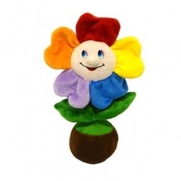 фото Мягкая игрушка со звуком Maxiplay «Веселый цветочек в горшочке»