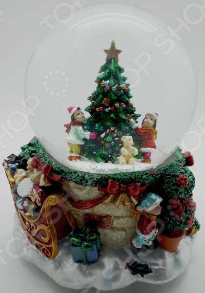 Снежный шар декоративный Crystal Deco «Дети вокруг елочки»