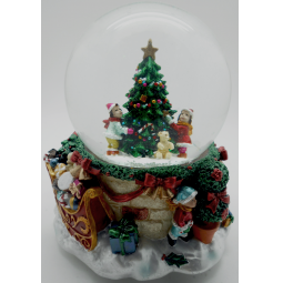 фото Снежный шар декоративный Crystal Deco «Дети вокруг елочки»