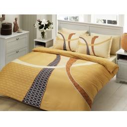 фото Комплект постельного белья TAC Horizon. 1,5-спальный. Цвет: золотистый