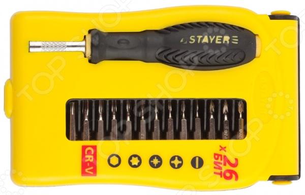Отвертка для точных работ с битами Stayer Master 25614-H28 набор ключей комбинированных stayer master 27085 h6