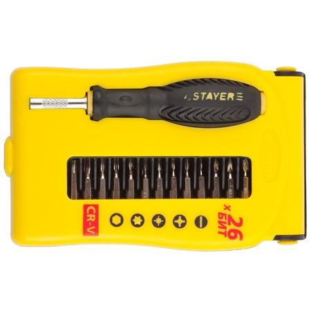 Купить Отвертка для точных работ с битами Stayer Master 25614-H28