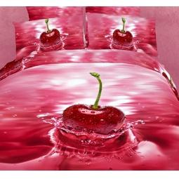 фото Комплект постельного белья Buenas Noches Cherry. Satin Fotoprint. 2-спальный