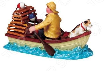 Фигурка керамическая Lemax «Рыбак с собакой в лодке» фигурки pavone фигурка дама с собакой