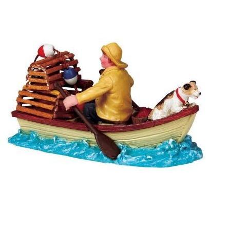 Купить Фигурка керамическая Lemax «Рыбак с собакой в лодке»