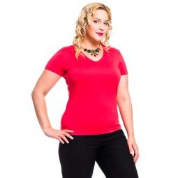 фото Кофта Mondigo XXL 056. Цвет: ярко-розовый. Размер одежды: 58