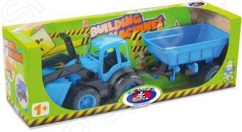 Машинка игрушечная Zebratoys «Трактор с ковшом и прицепом» tomy трактор john deere 6830 с двойными колесами и фронтальным погрузчиком с 3 лет