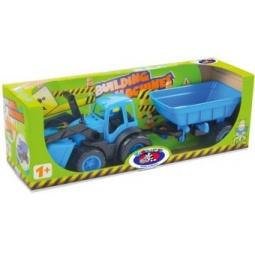 фото Машинка игрушечная Zebratoys «Трактор с ковшом и прицепом»