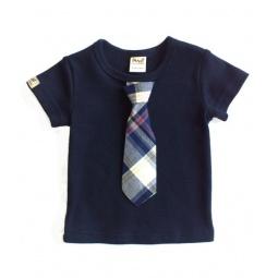 фото Футболка для мальчиков с галстуком Ёмаё. Цвет: синий. Размер: 30. Рост: 110 см