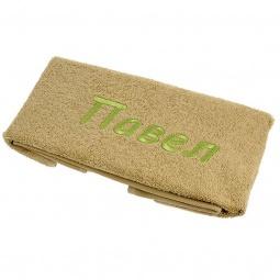 фото Полотенце подарочное с вышивкой TAC Павел. Цвет: оливковый