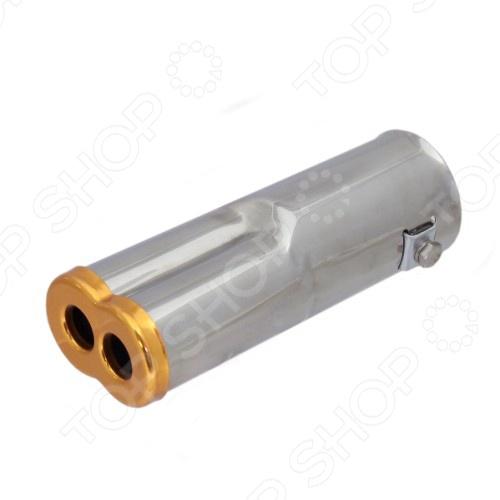 Насадка на глушитель FK-SPORTS EE-204 дополнительный аксессуар для выхлопной трубы, выполняющий эстетическую функцию. Воспользуйтесь этим решением, если хотите придать уникальный вид трубе глушителя вашего автомобиля. Внимание, для установки насадки необходимы соответствующие навыки, поэтому желательно обратиться к специалисту по монтажу.