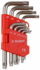 Набор ключей имбусовых коротких Зубр «Мастер» 27462-1_z02 набор г образных ключей торкс t10 t50 9шт jtc 5354