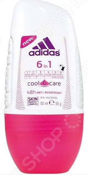 Cool&Care 6 in 1 Дезодорант шариковый Adidas Cool&Care 6 in 1