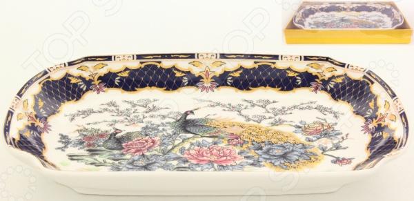 фото Блюдо для слоеных салатов Elan Gallery «Павлин на золоте», Салатницы