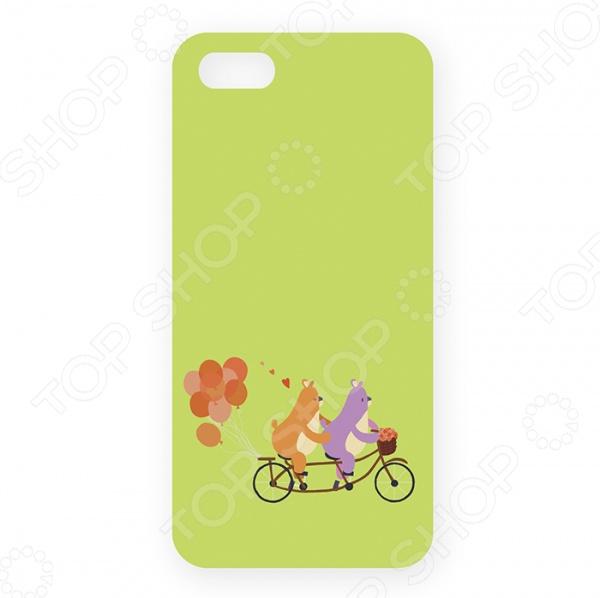 Чехол для iPhone 5 Mitya Veselkov «Мишки на велике с шариками» ремень с карманом под телефон на руку cc iphone6 iphone 6 5 5 cc2109