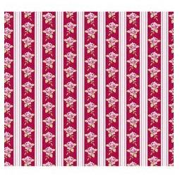 фото Отрез ткани Tilda Розы и полоски. Цвет: красный