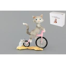 Купить Фигурка декоративная Elan Gallery Кот на велосипеде