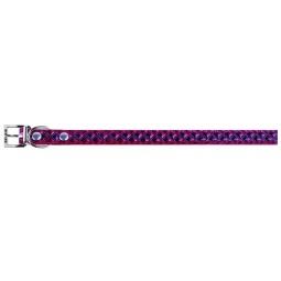 фото Ошейник для собак DEZZIE «Стабби». Цвет: фиолетовый. Размер: 40 см. Ширина: 2 см