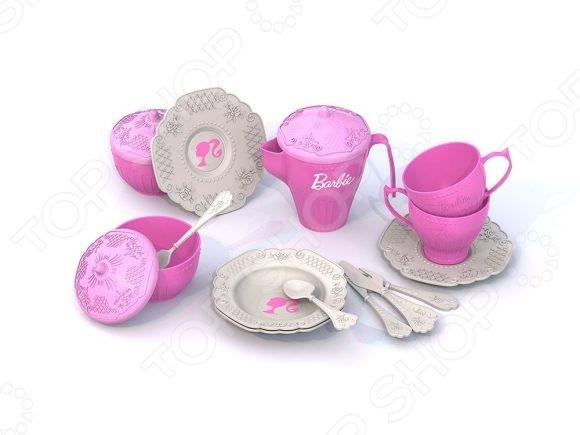 Игровой набор для девочки Нордпласт «Чайная посудка. Барби» 636