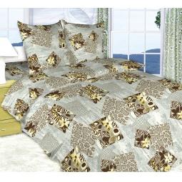 фото Комплект постельного белья Королевское Искушение «Кения». 2-спальный. Цвет: серый