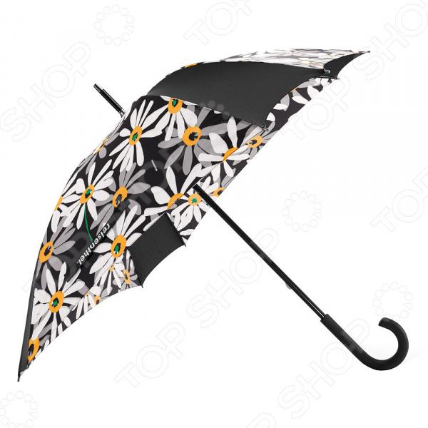 Зонт-трость Reisenthel Umbrella MargariteЗонты<br>Зонт-трость Reisenthel Umbrella Margarite элегантный зонт ярких и приятных цветов, с которым ни снег ни дождь не страшны. Благодаря своей инновационной форме, с восьми углами, он надежен и способен выдержать даже штормовой ветер. Имеет гибкие спицы, со специальными пружинами, которые не позволяют им ломаться, даже если зонт вывернуть наизнанку. Имеет красивый, удобный острый наконечник и ручку, которая позволяет повесить зонт. Рекомендуется просушивать в открытом состоянии, не складывая его пока он мокрый. Преимущества:  Широкий диаметр укрытия от дождя;  Рукоять с загнутым наконечником удобна при переноски как в развернутом, так и в сложенном виде.  Восьмиугольная форма с гибкими спицами.<br>