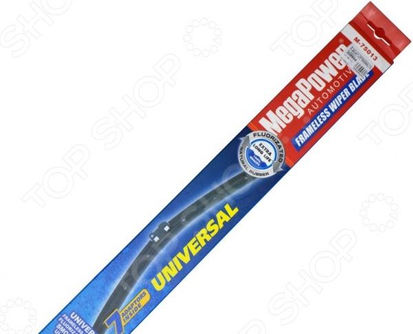 Щетка стеклоочистителя бескаркасная с адаптерами Megapower Universal Megapower - артикул: 542001