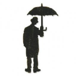 фото Форма для вырубки Sizzix Bigz Die Человек под зонтиком