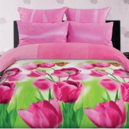 фото Комплект постельного белья Романтика «Весенние тюльпаны» 291791. 2-спальный